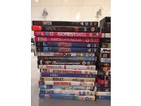 70 DVD's for sale, mixed genres, to be sold as one lot