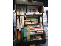 Full box of fiction books