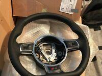 Genuine Audi R8 2013-2015 Leather Flat Bottom Steering Wheel