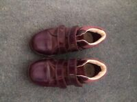 Purple Clark's Girls Shoes
