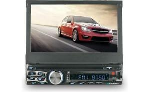 """Touch Screen Single DIN motorized 7"""" receiver with Bluetooth"""