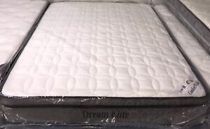 """NEW Queen 60""""x78""""x10"""" Thick Euro-top Coil Mattress only 400"""