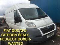 Fiat Ducato & Citröen Realy Wanted