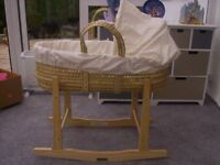 Moses Basket on Rocking Stand