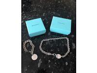 Sterling silver return to Tiffany necklace & bracelet 100% genuine!