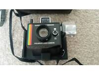 Vintage Polaroid Land Camera with Case and Manual