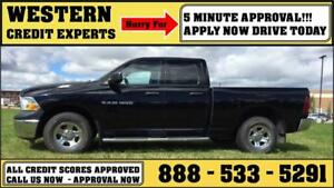 2012 Ram 1500 4x4 4.7L Flex Fuel ~ Tow Package ~ 5 Min Approval