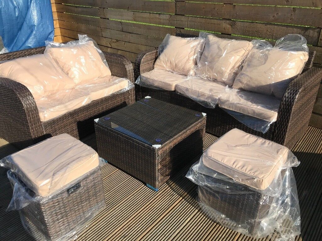 outdoor garden sofa seating set rattan brown 7 seater delivery available in east end glasgow gumtree - Garden Furniture Glasgow