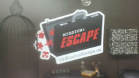 "THE ESCAPE ROOM IS OPEN- TONY""S BISTRO"