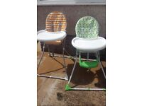 Pair of Two Baby High Chairs for sale very good condition £20