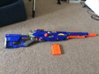 7 nerf guns in mint condition, still able to shoot, with darts, low price