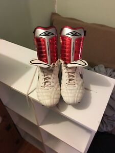 Nike soccer cleats size 12 with shin guards