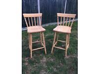 John Lewis solid wood bar stools