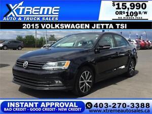 2015 Volkswagen Jetta 1.4 TSI $109 bi-weekly APPLY NOW DRIVE NOW