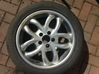 Alloy wheels with winter tyres - 215 50 R17