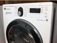 SAMSUNG - Air Refresh, White + Chrome, 7.0kg WASHER DRYER + 3 Months Guarantee + FREE LOCAL DELIVERY