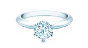 Reduced - 1ct Tiffany Diamond Engagement / Embrace Bands