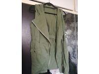 Green hooded jacket