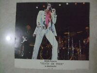 ELVIS PRESLEY HAND SIGNED ORIGINAL 1972 LOBBY CARD LAS VEGAS MGM ELVIS ON TOUR PROMOTION
