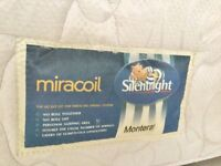 Silent Night Miracoil Double Mattress Clean & Comfortable