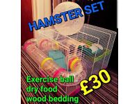 Hamster Cage + Necessities
