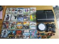 PS3 with 20 Games And Skylanders Bundle