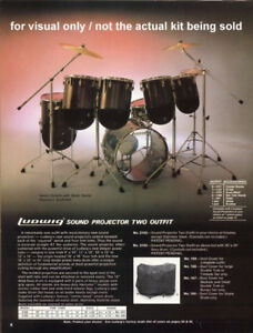 Ludwig Vistalite Drum Set
