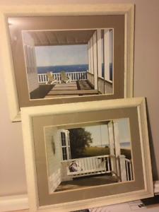 Beautiful prints waterfront views nautical themed frames