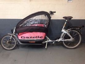 E-Assist Electric Gazelle Cabby Cargo Family Bike Bicycle (Similar to Bakfiets)