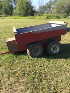 Hunting tub trailer
