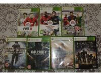Xbox 360 games - FIFA 11, 12 & 13 + Call of Duty (WatW) & Black Ops + Modern Warfare 2 + Halo Reach