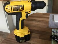 Dewalt DC740 12volt drill/driver c/w XR2 2.00 AH battery carry case and charger