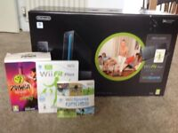 Complete Wii Black Console with Wii Fit board