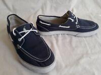 Ralph Lauren POLO Lander Navy Canvas Boat Shoe