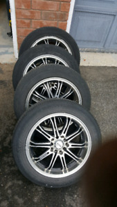 5 bolt universal rims 5x114.3 and 5x100 on tires $400