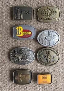 Collection Vintage Oil & Gas Trades Belt Buckles