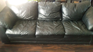 Black Leather Couch, $50 OBO