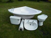 3 Piece Bathroom Suite including Corner Bath