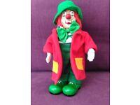 Soft-Bodied, Porcelain Clown Doll