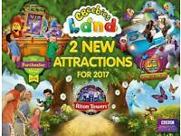 2 x Alton Towers and cbeebies land Any Date Tickets 2017 no booking required