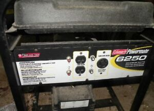 Coleman 6250 generator 10HP