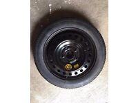 Continental 125/80 R 16 insignia bmw 5x120 spare wheel, jack