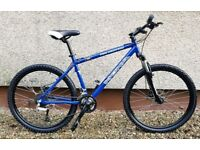 "Kona Fire mountain bike with 26""wheels and frame 18""- Disc brakes"