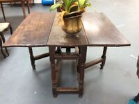 Very old gate-leg dining table