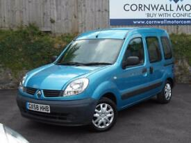RENAULT KANGOO 1.6 AUTHENTIQUE 16V 5d AUTO 94 BHP WHEEL CHAIR ACC (blue) 2008