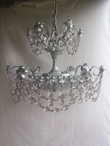 Lustre antique vrai crystal, made in Canada