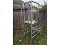 Folding podium scaffold not tower