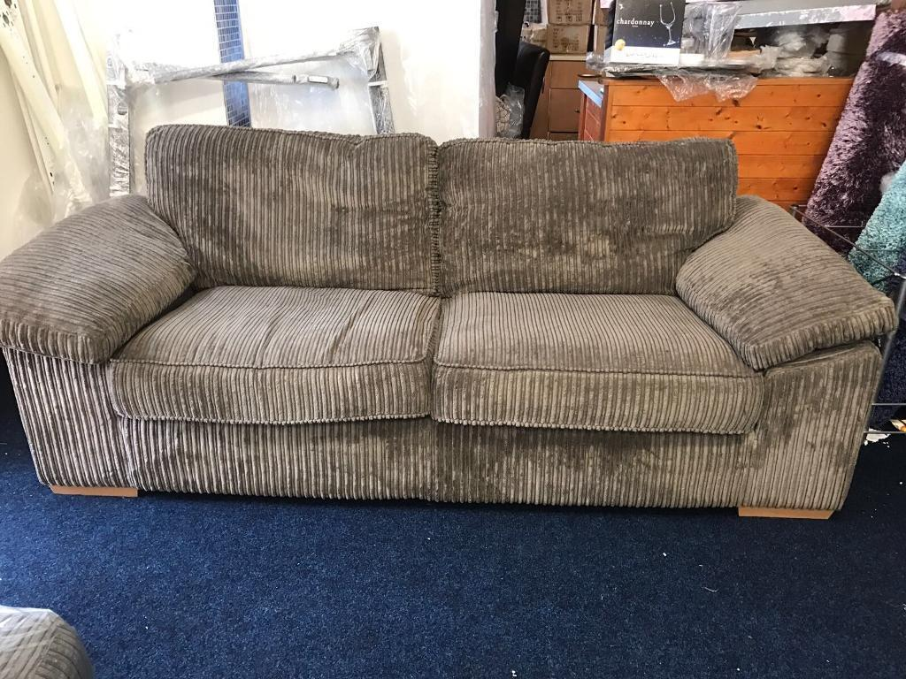 Pre owned mocha brown cord 3 Seater sofa - excellent condition
