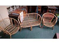 wicker seat set