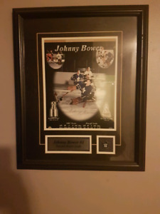 johnny bauer framed autograph